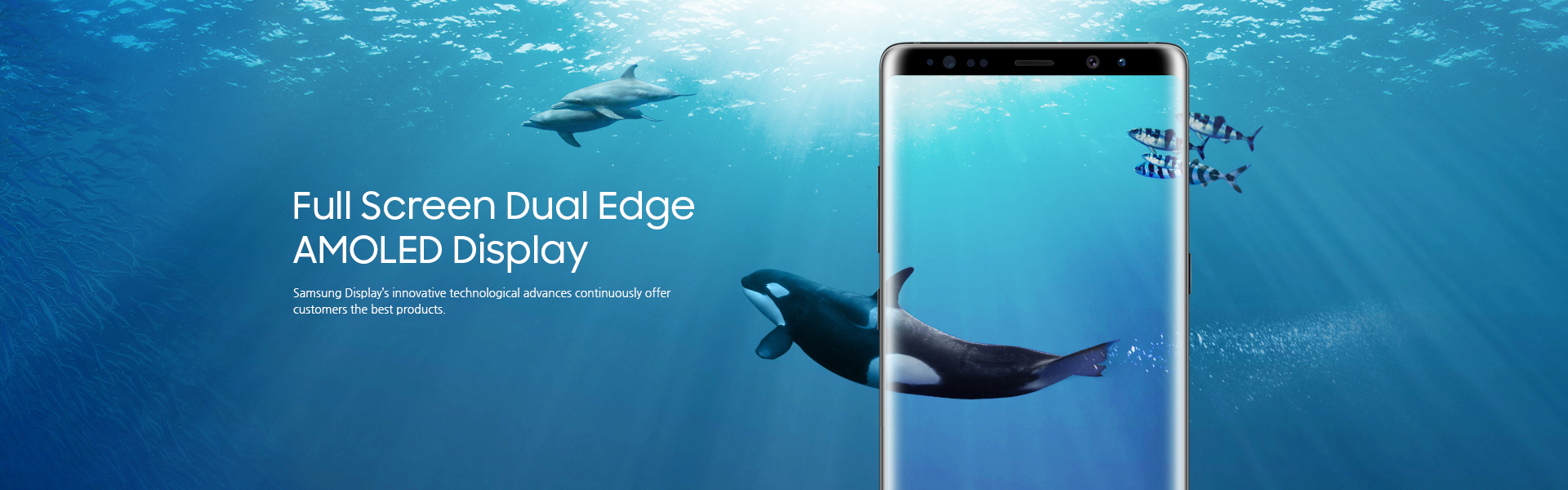 Full Screen Dual Edge AMOLED Dispaly - Samsung Display's innovative technological advances continuously offer customers the best products.