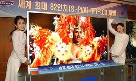 Developed the biggest 82-inch TFT-LCD