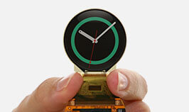 Mass produced a circular OLED display for smartwatches