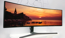 Mass produced first Curved LCD panels for PC monitors with a commanding 32:9 viewing area